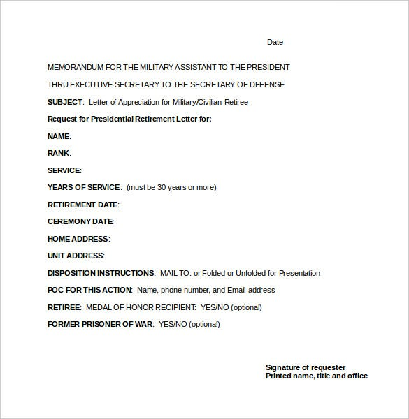 Retirement letter template 12 free word pdf documents download presidential retirement letter template in word doc spiritdancerdesigns Image collections