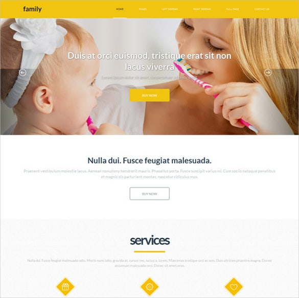 beautiful family webite template download