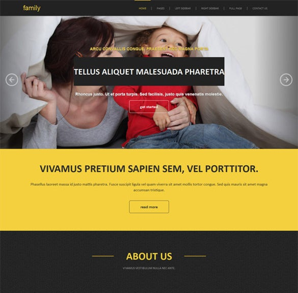 amazing family website template