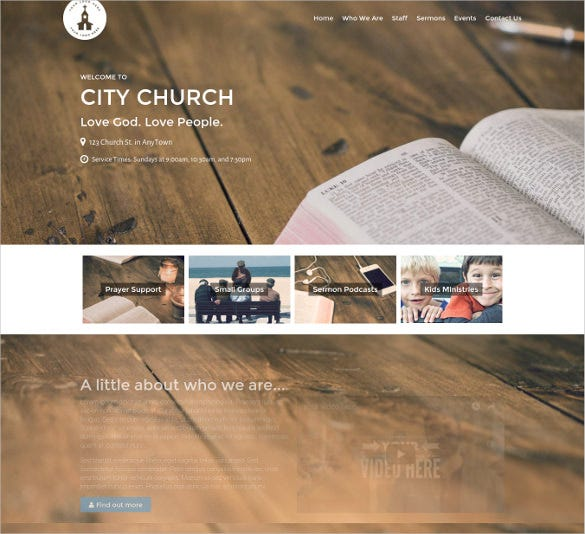 church podcast wordpress theme