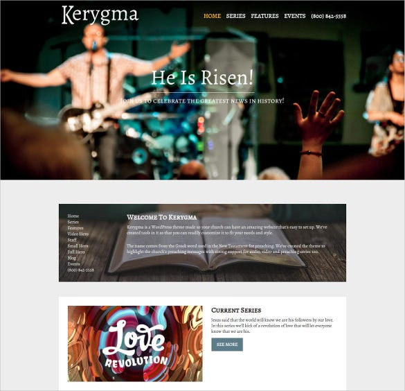visually customize church podcast wordpress theme