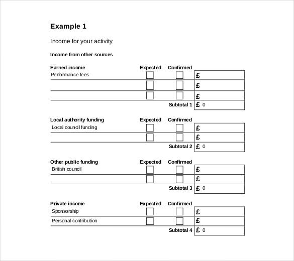 Beautiful Income And Expenditure Budget Template PDF On Income And Expenditure Form Template