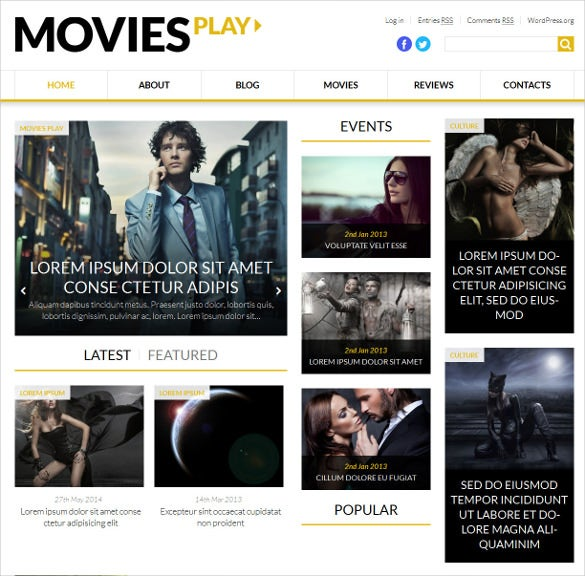 world fashion news portal wordpress template
