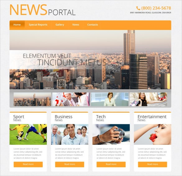 news portal responsive wordpress template