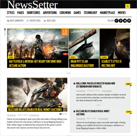 newssetter news wordpress theme