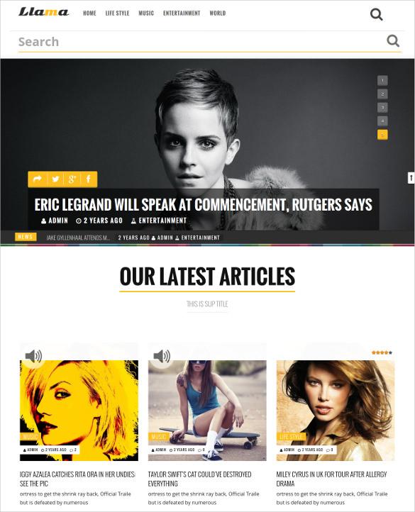 magazine news wordpress template