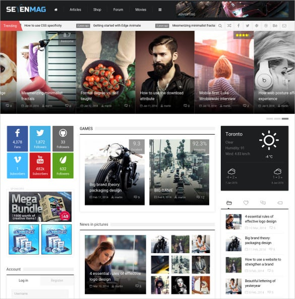 blog game news wordpress theme