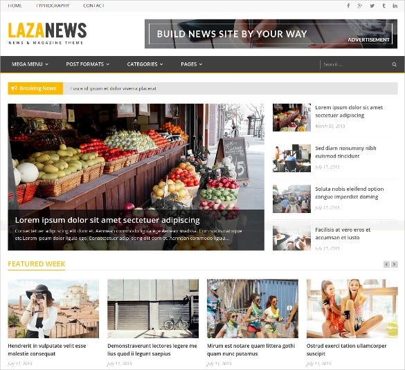 pretty newspaper news wordpress theme