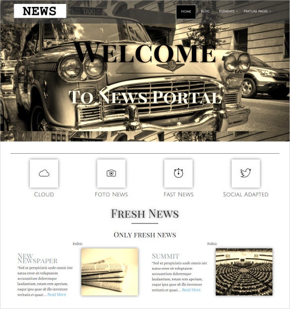 premium wordpress news template