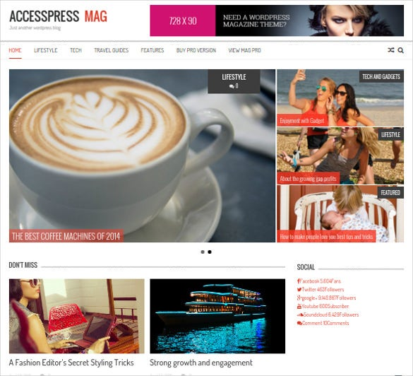 free responsive news portal wordpress template