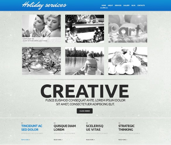 holiday event planner responsive wordpress theme