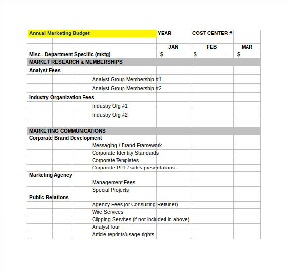 Financial Budget Plan Template   Free Word Excel Pdf