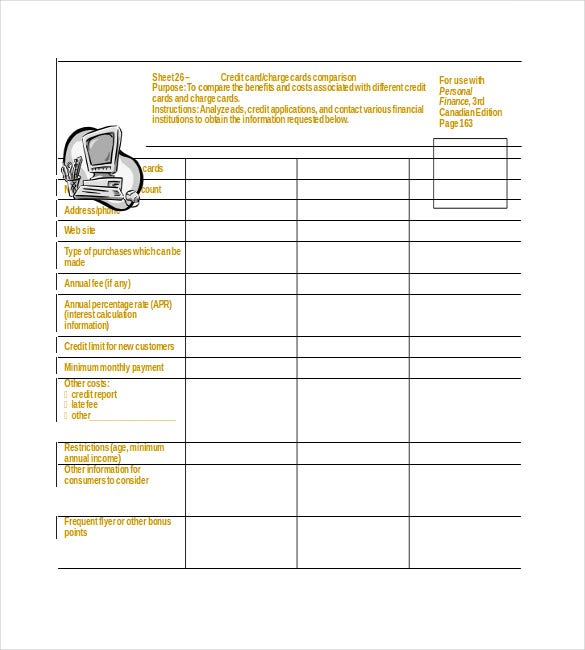 personal financial planner word doc