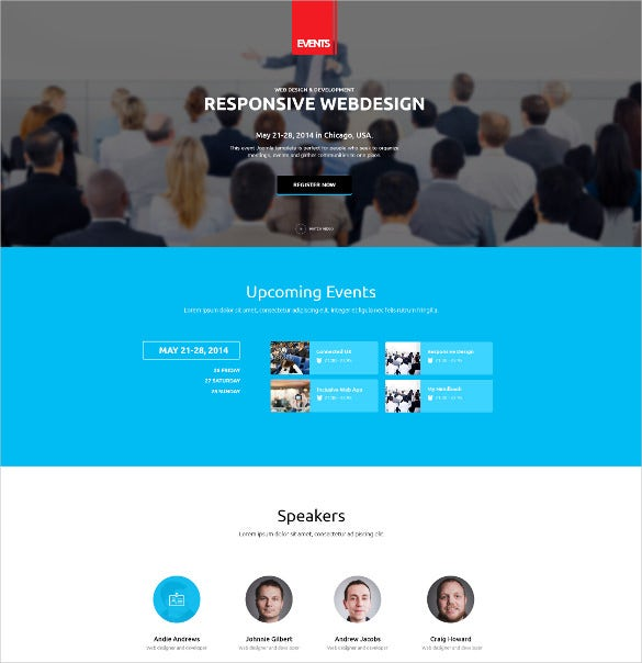 responsive web desigh event wordpress theme