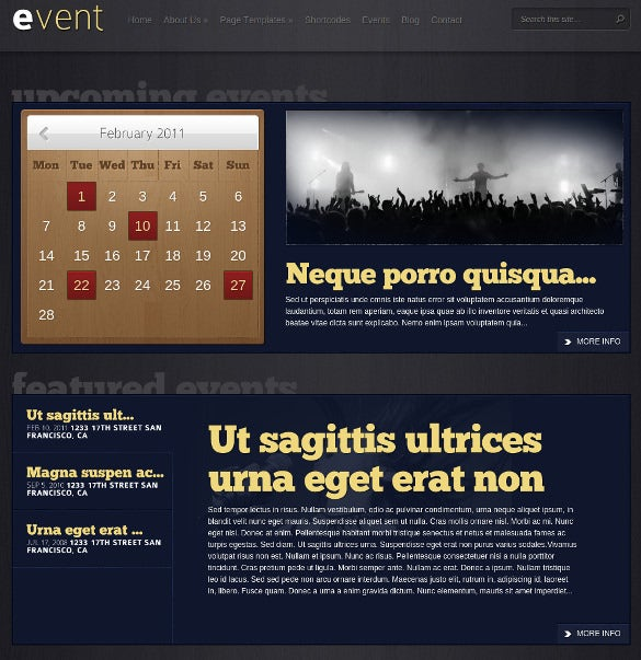premium event wordpress theme