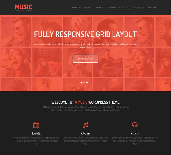 dj mixers music event wordpress theme