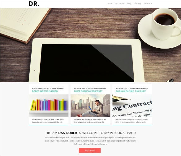 personal pages joomla website template