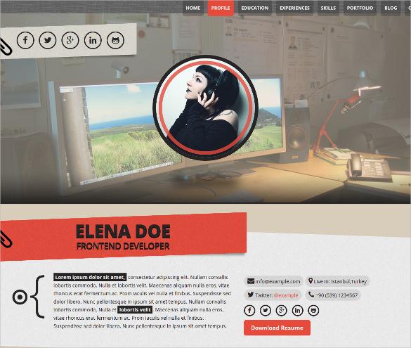 personal portfolio wordpress website theme