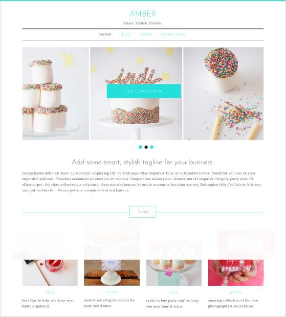 smart stylish personal website theme