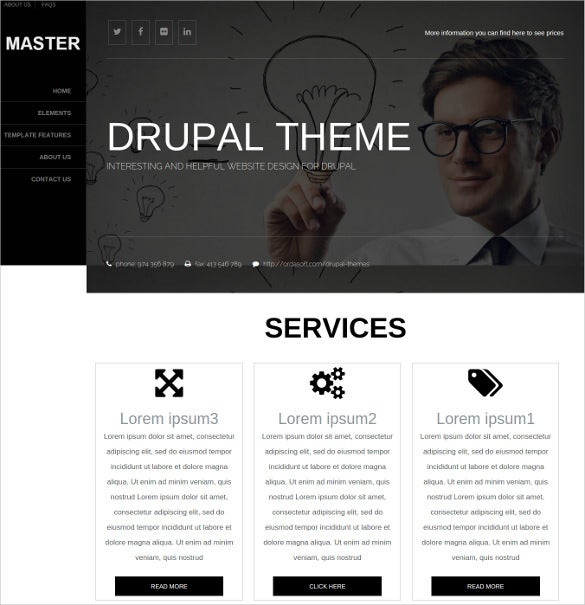 drupal responsive personal website theme