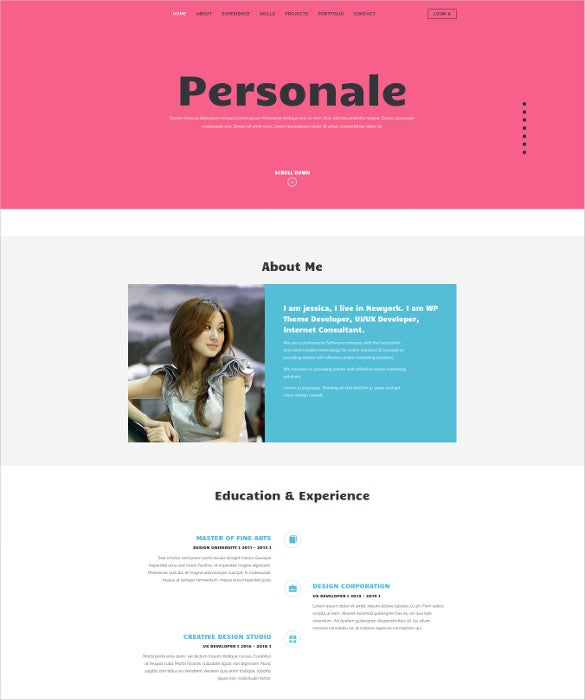 34+ Personal Website Themes & Templates | Free & Premium Templates