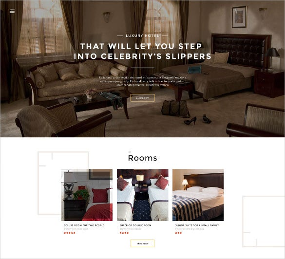 hotels responsive bootstrap website template