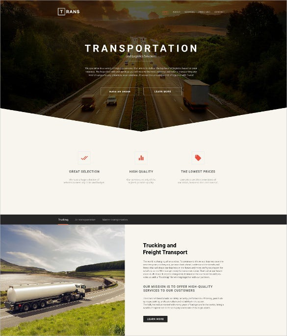 0transportation responsive bootstrap website theme