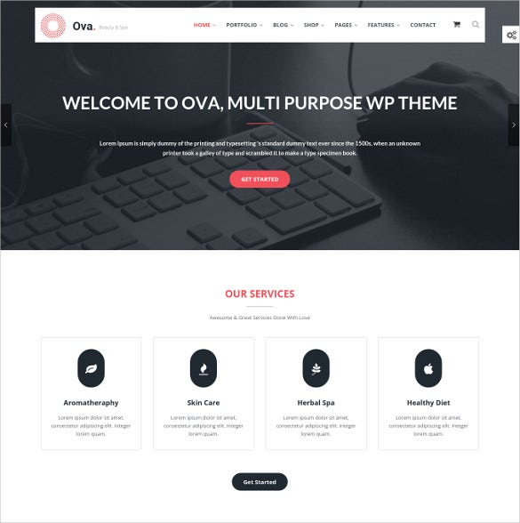 flexible multi purpose wordpress template