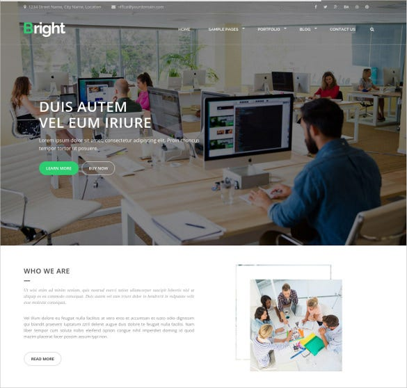 responsive corporate agency bootstrap website html theme