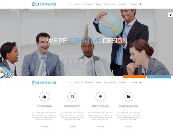 responsive corporation bootstrap website template