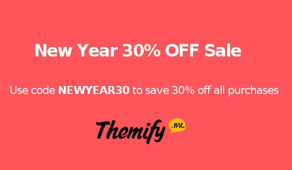 Themify New Year Sale - 30% Off