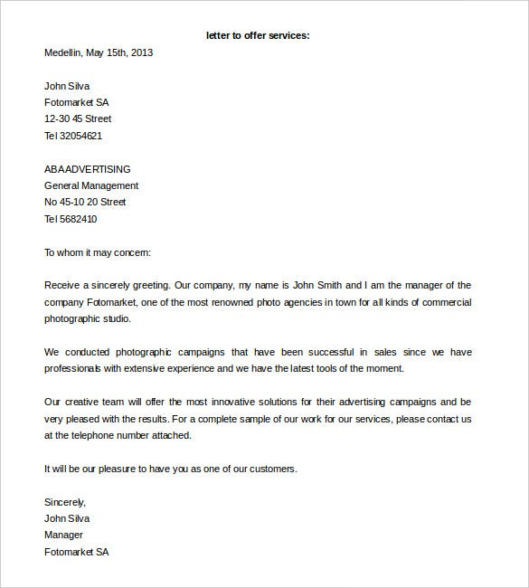 Proposal Letter Template 24 Free Word Pdf Document
