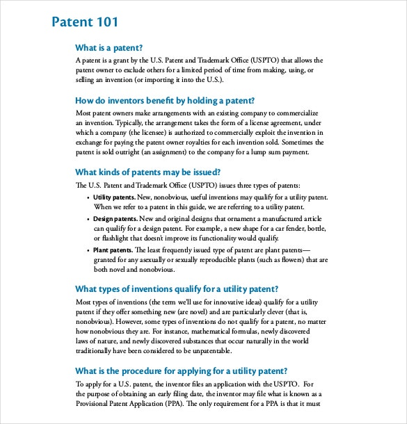 Provisional Patent Application Guide PDF Format Free Download