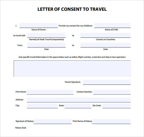 Doc12751650 Permission to Travel Letter Template Parental – Sample Permission Letter for Traveling Child