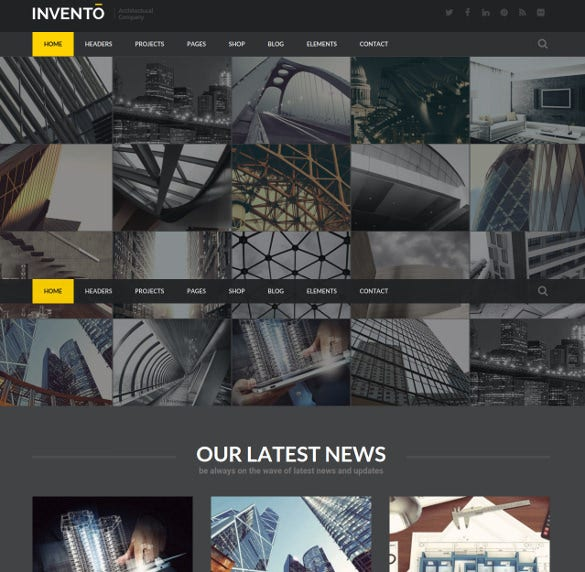 invento architecture building agency wordpress theme
