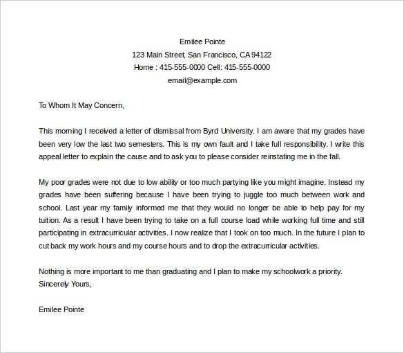 Appeal Letter - Gse.Bookbinder.Co