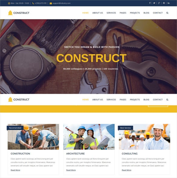 construct joomla construction business template
