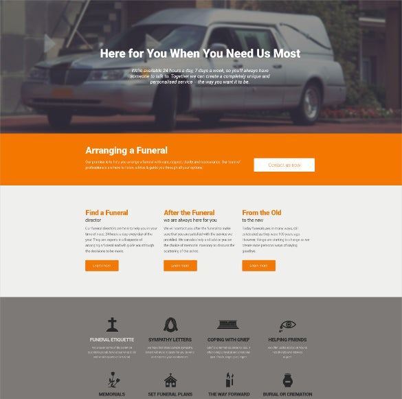 funeral services responsive drupal template