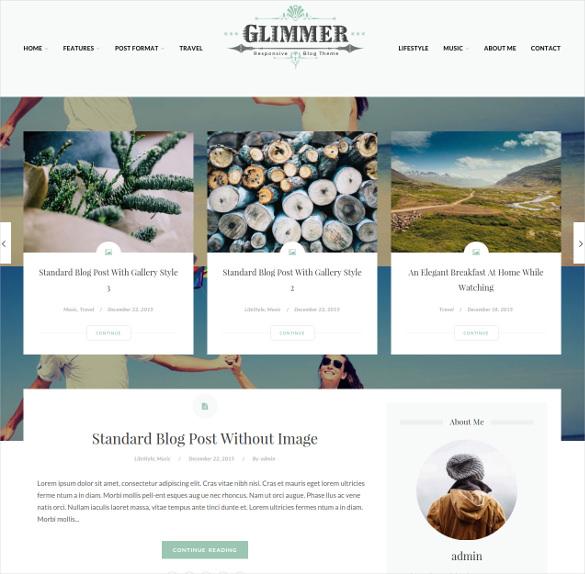 glimmer a responsive drupal blog theme