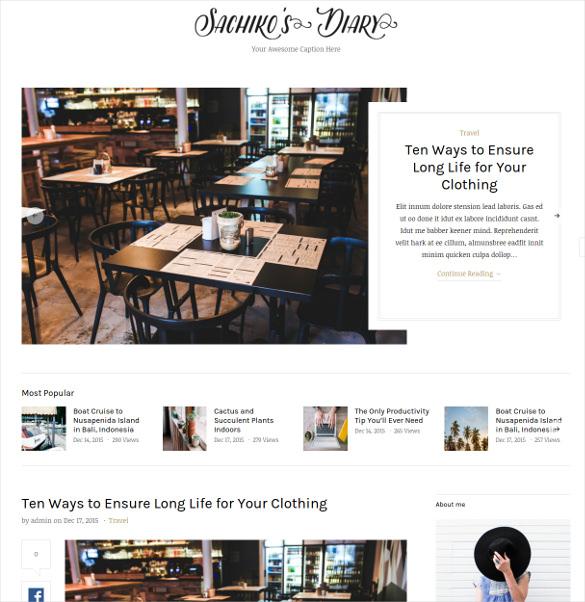 sachiko responsive drupal blog theme
