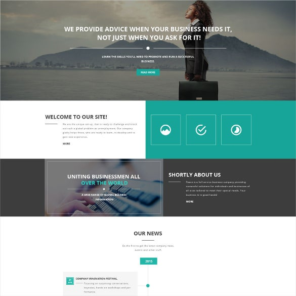 48 new html5 themes templates released in january 2016 free business responsive html5 template fbccfo Image collections