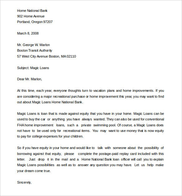 business sales letter format template word doc