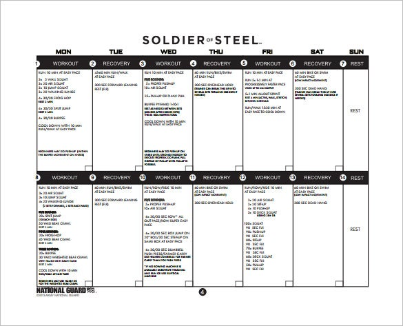 Army Training Plan Free PDF Template Download