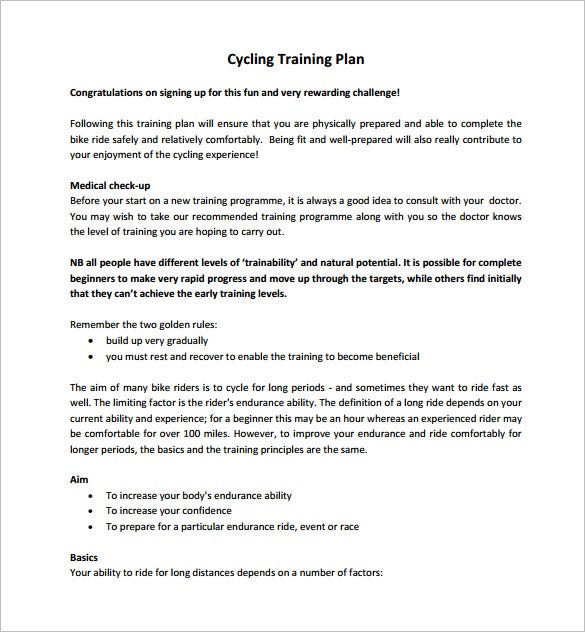 Free Training Plan Templates  Word  Documents Download  Free