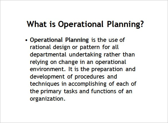 Operational Plan Template - 5 Free Word, Pdf Documents Download