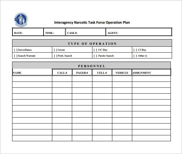 Operational Plan Templates Free Sample Example Format - Business operating plan template