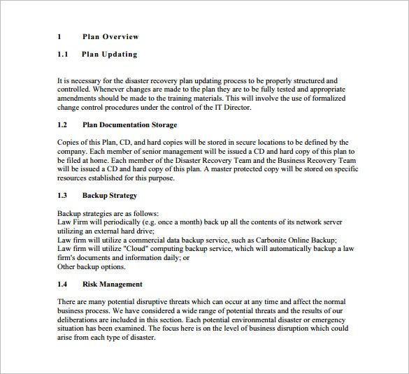 disaster recovery communication plan template 13 disaster recovery plan templates free sample