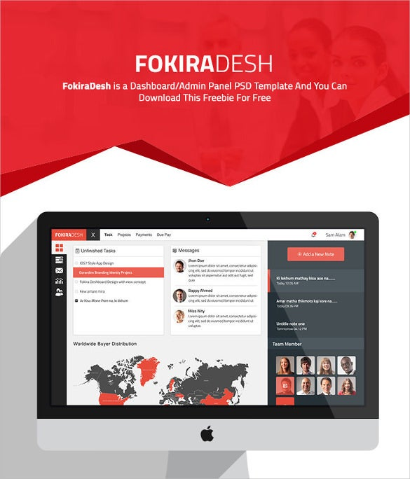 FokiraDesh Dashboard UI Template