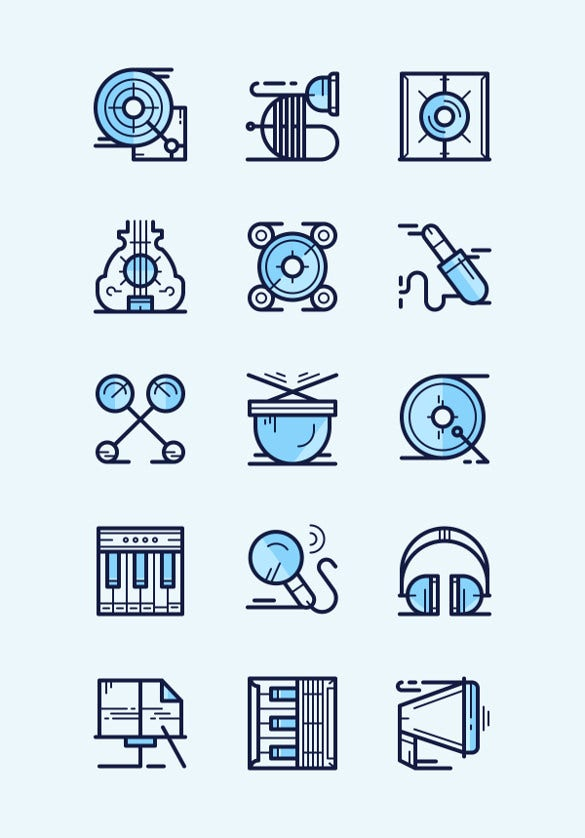 Simple Music Icons Free Download
