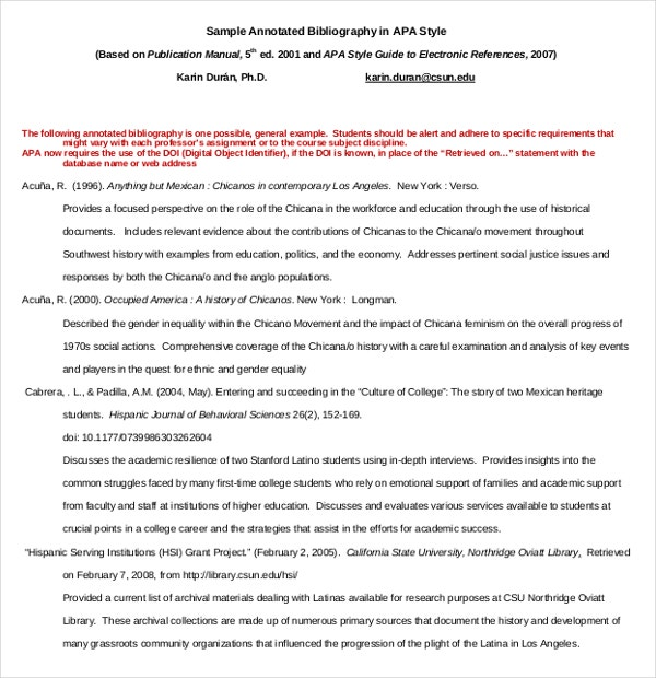 simple annotated bibliography template  u2013 10  free word
